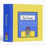 Carpeta del azul del amarillo de la abrazo del gat