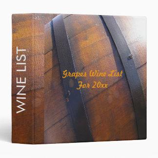 Carpeta del barril de vino