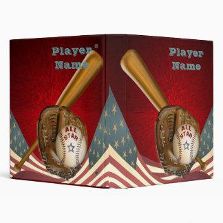 Carpeta del béisbol de All Star del americano