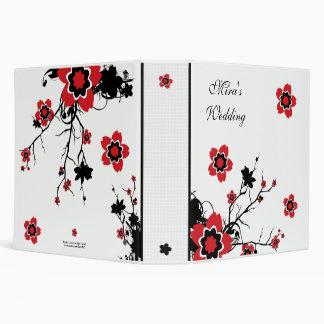 Carpeta del boda de la flor de cerezo