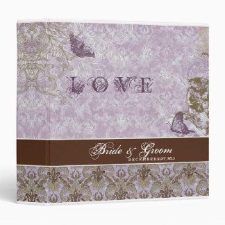 Carpeta del boda de la lila de la lavanda de Fleur