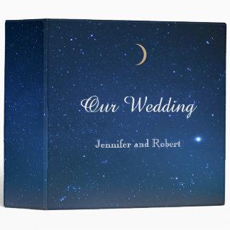 Carpeta del boda de la noche estrellada