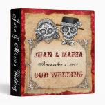 Carpeta del boda de los pares del cráneo del azúca