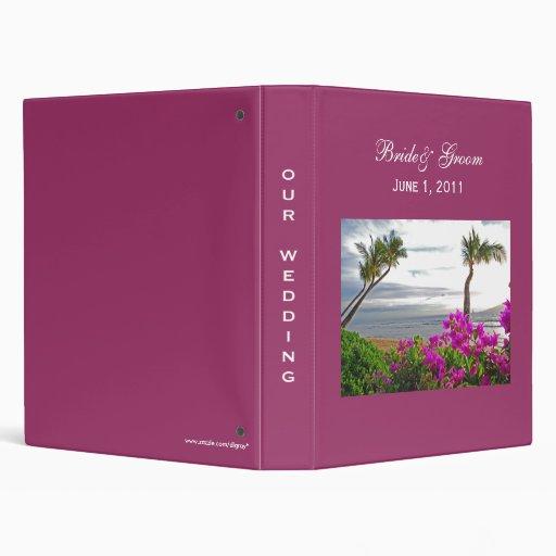 Carpeta del boda de playa de Maui