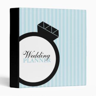 Carpeta del boda del anillo de compromiso
