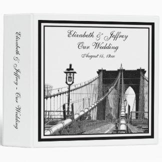 Carpeta del boda del puente de Brooklyn del