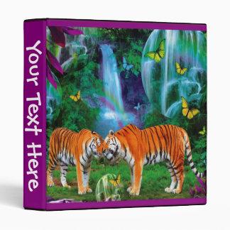 Carpeta del bosque de la fantasía de los tigres