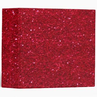 Carpeta del brillo del rojo cereza
