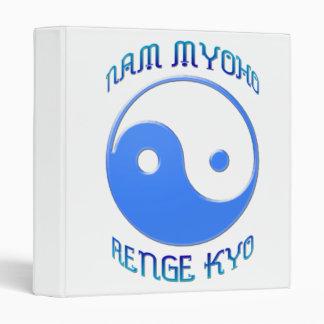 """Carpeta del Buddhism de Yin y de Yang """"Nam Renge M"""