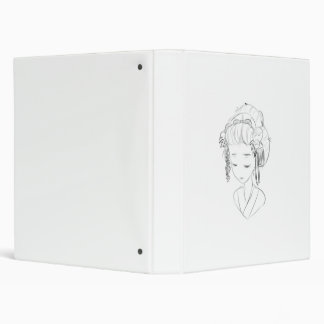 carpeta del busto del chica del kimino
