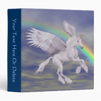 Carpeta del caballo de la fantasía del arco iris d