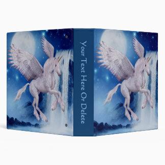 Carpeta del caballo de la fantasía del unicornio d