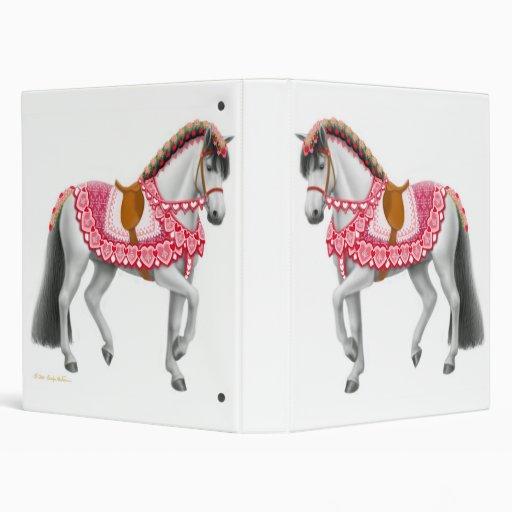 Carpeta del caballo de los corazones de la tarjeta