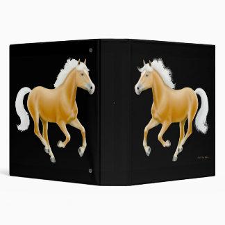 Carpeta del caballo del Palomino de Haflinger