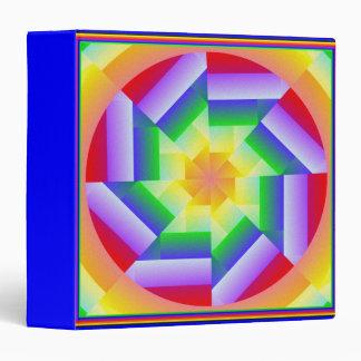 Carpeta del caleidoscopio 3-Ring del arco iris