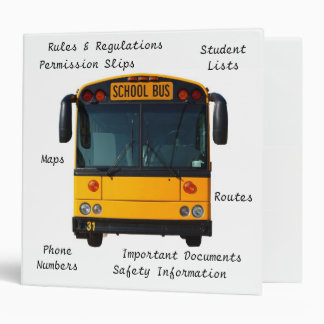 Carpeta del conductor del autobús escolar