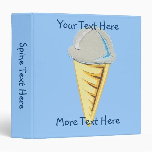 Carpeta del cono de helado
