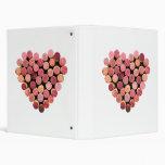 Carpeta del corazón del corcho del vino