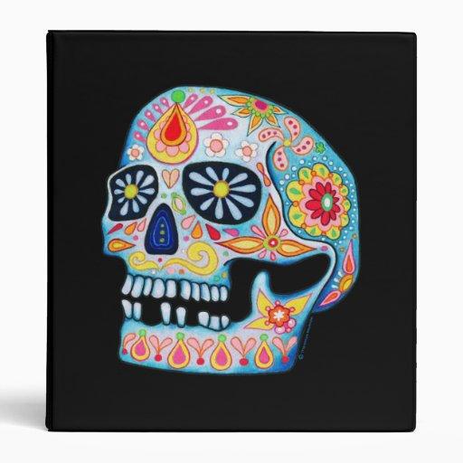 Carpeta del cráneo de Dia de los Muertos Sugar