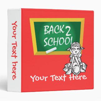 Carpeta del cuaderno de la escuela de la parte pos