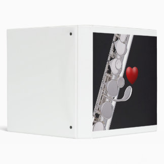 Carpeta del cuaderno del anillo de la flauta o del