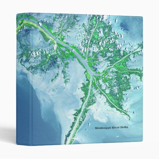 Carpeta del cuaderno del delta del río Misisipi