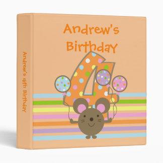 Carpeta del cumpleaños del naranja del ratón del