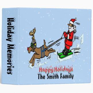 Carpeta del día de fiesta del esquí de Santa