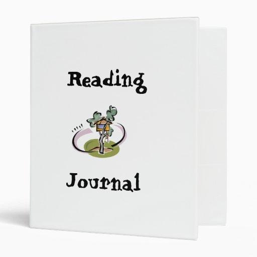 Carpeta del diario de la lectura de la casa en el