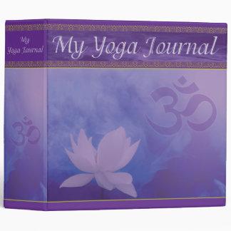 Carpeta del diario de la yoga