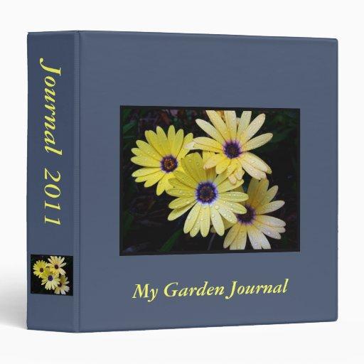 Carpeta del diario del jardín de Personalizable