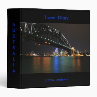 Carpeta del diario del viaje de Sydney Australia