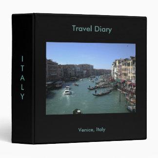 Carpeta del diario del viaje de Venecia Italia