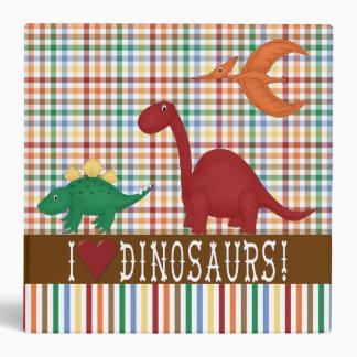 Carpeta del dinosaurio del niño colorido