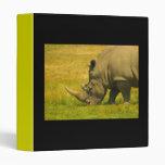 Carpeta del diseño de la foto del rinoceronte
