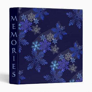 Carpeta del diseño de los copos de nieve