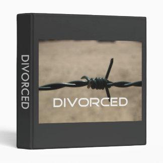 Carpeta del divorcio del alambre de Barb
