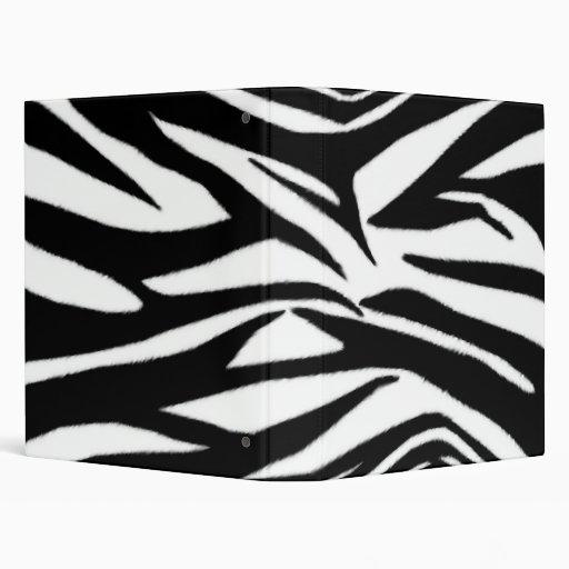 Carpeta del estampado de zebra