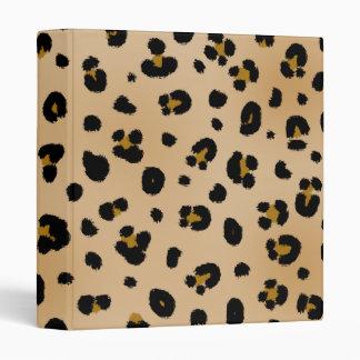 Carpeta del estampado leopardo