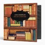 Carpeta del estante de la biblioteca del vintage d