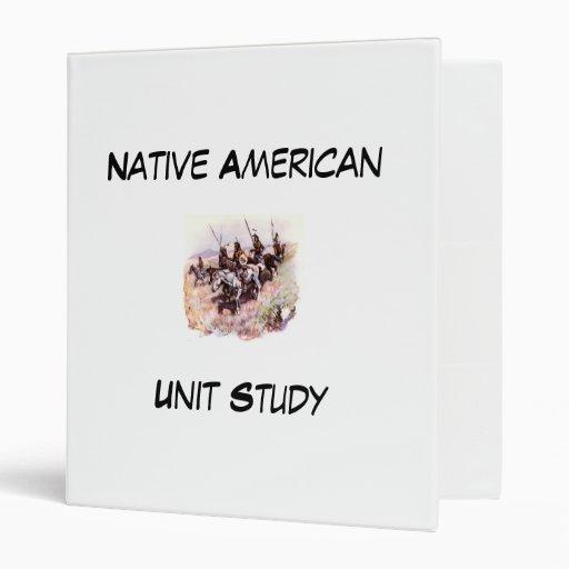 Carpeta del estudio de la unidad del nativo americ