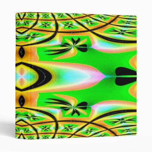 Carpeta del fractal de la aguamarina del oro verde