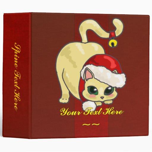 Carpeta del gato del navidad