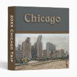 Carpeta del itinerario del viaje de Chicago