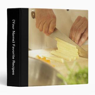 Carpeta del libro de cocina de la receta