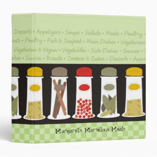 Carpeta del libro de cocina de la receta de las