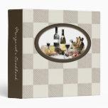Carpeta del libro de cocina de la receta del abast