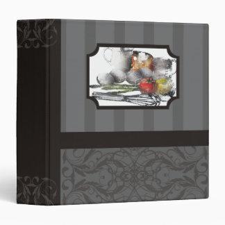 carpeta del libro de cocina de la receta del lugar