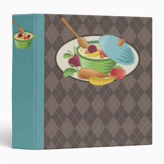 carpeta del libro de cocina de la receta del pote