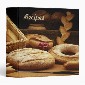 Carpeta del libro de cocina de la receta - pan